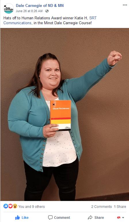 DaleCarnegie Human Relations Award2020_KatieHolmgren